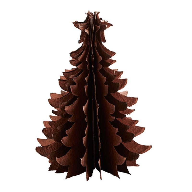 Standing Recycled Paper Christmas Tree Lg - Copper PRE ORDER