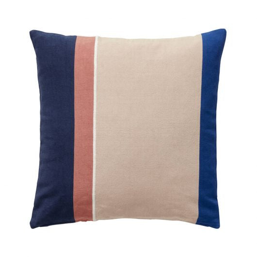 Cotton Cushion: Blue/Beige/Rose/White