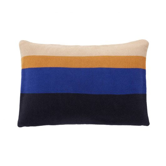 Cotton Cushion Blue/Amber/Beige