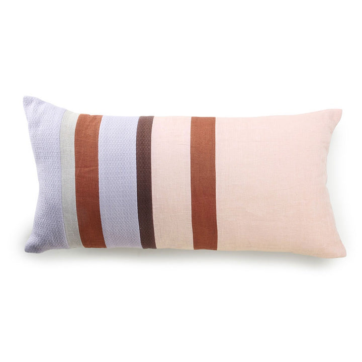 Linen striped cushion C