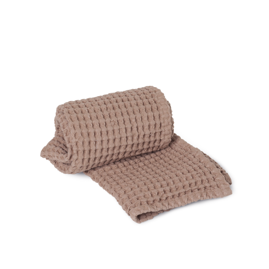 Organic Hand Towel: Dusty Rose