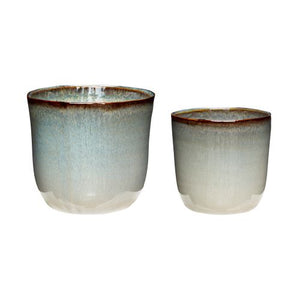 Ceramic Plant Pot Green S