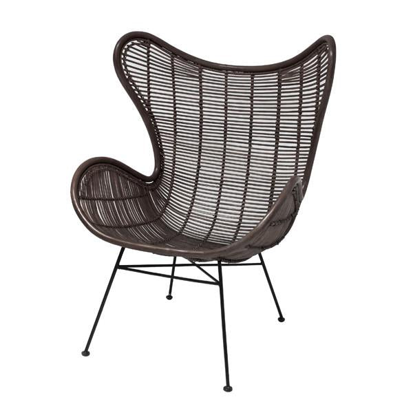 Rattan Egg Chair Coffee Brown