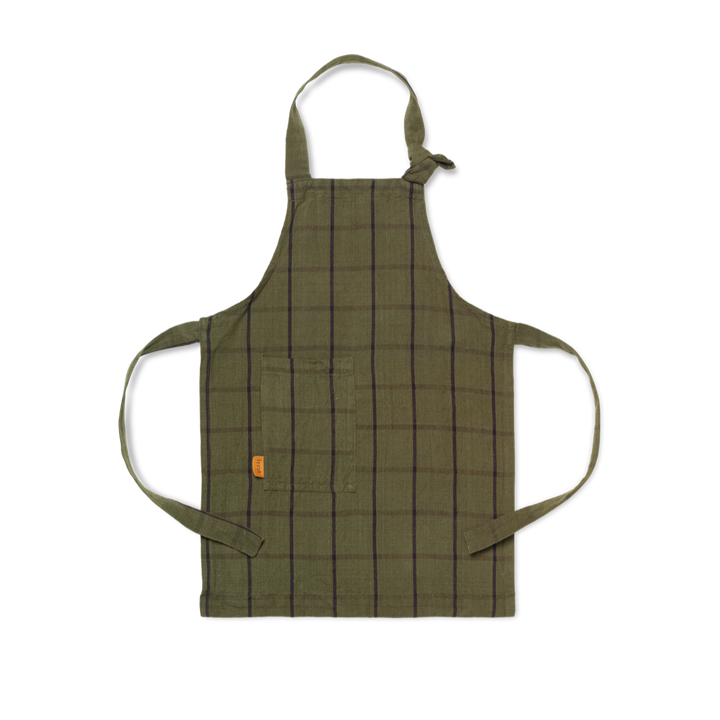 Hale Kids Apron: Green/Black