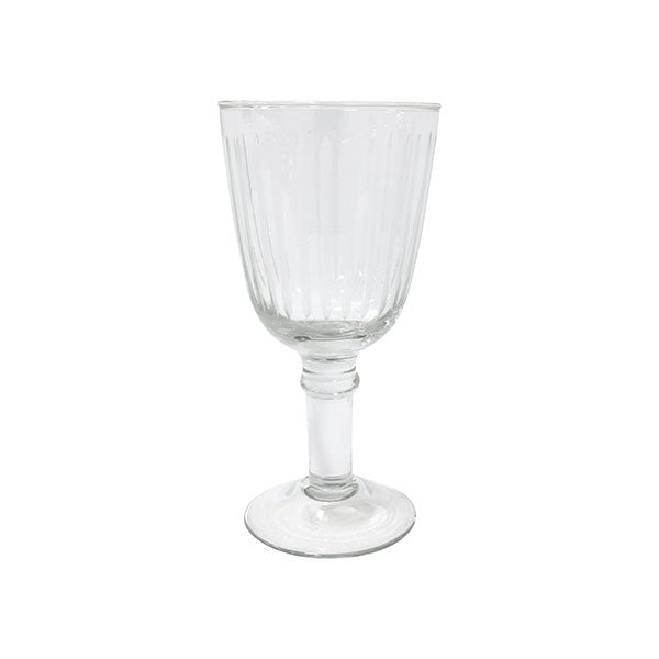 Wine glass engraved stripes