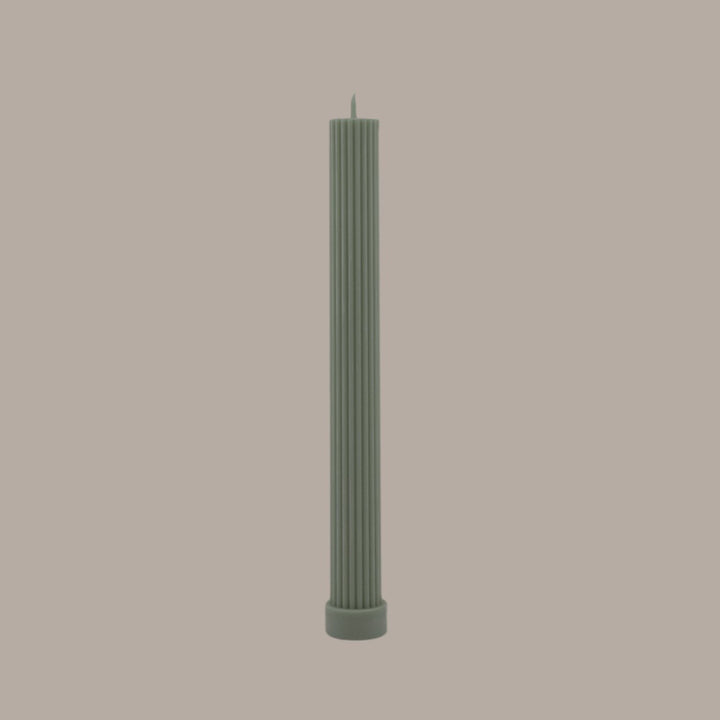 Column Pillar Candle Green