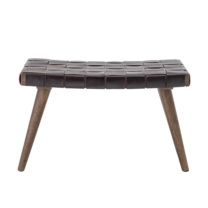 Merle Brown Leather Stool