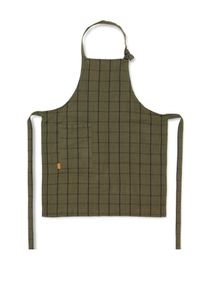 Hale Apron: Green/Black