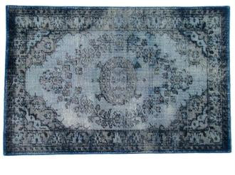 Extra Overdyed Rug grey/blue