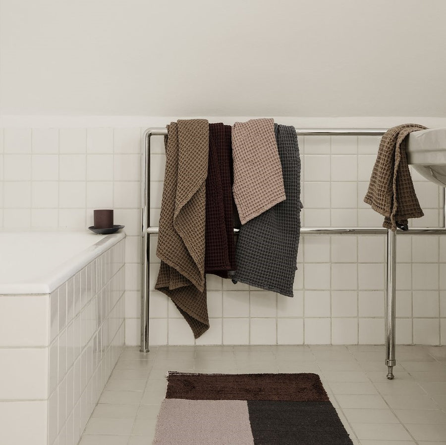 Organic Hand Towel: Tan