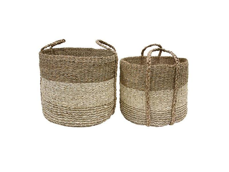 seagrass basket natural Small