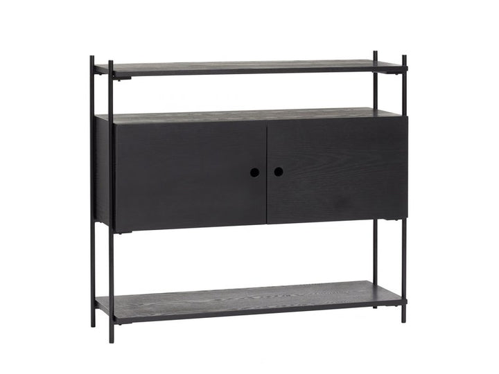 Console Table: Black/Brass