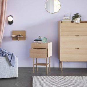 Oak Bedside Table: Set of 2