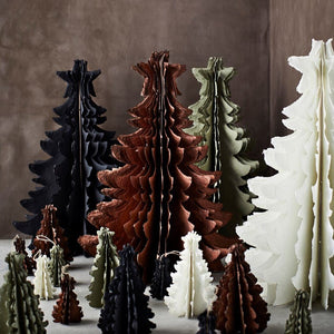 Standing Recycled Paper Christmas Tree Sml - Liquen PRE ORDER