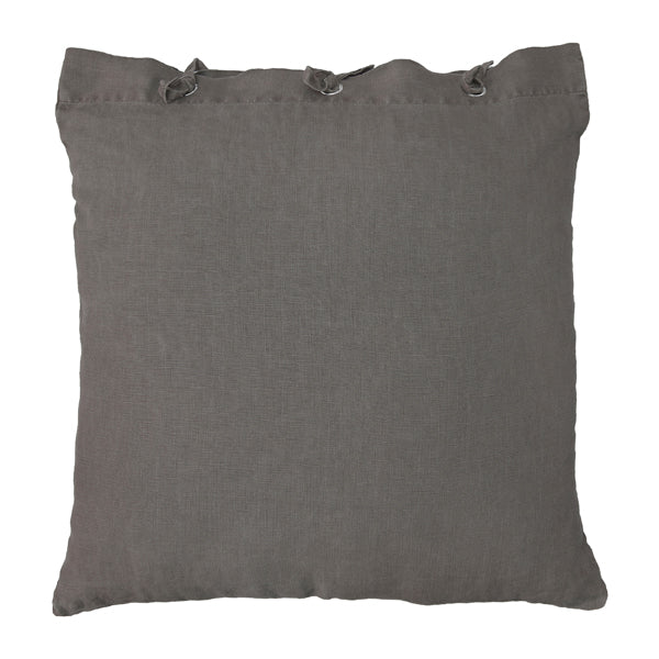 Linen taupe cushion
