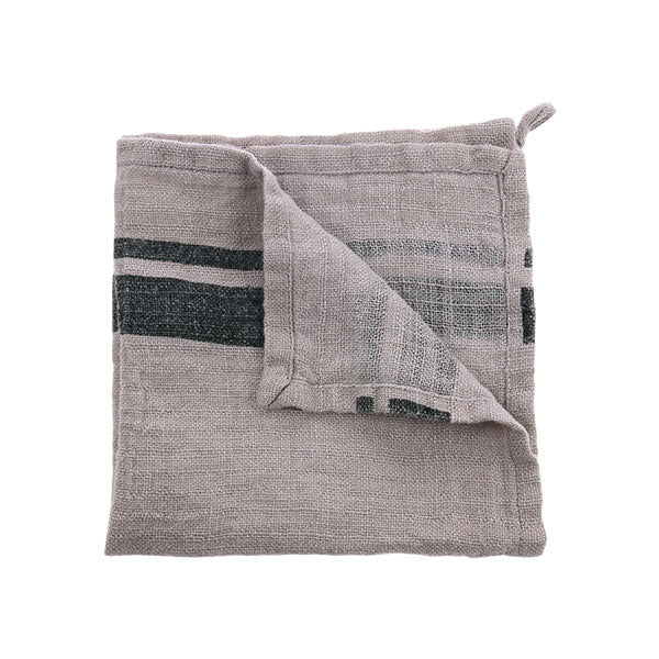 Natural/Striped Linen Napkins pair