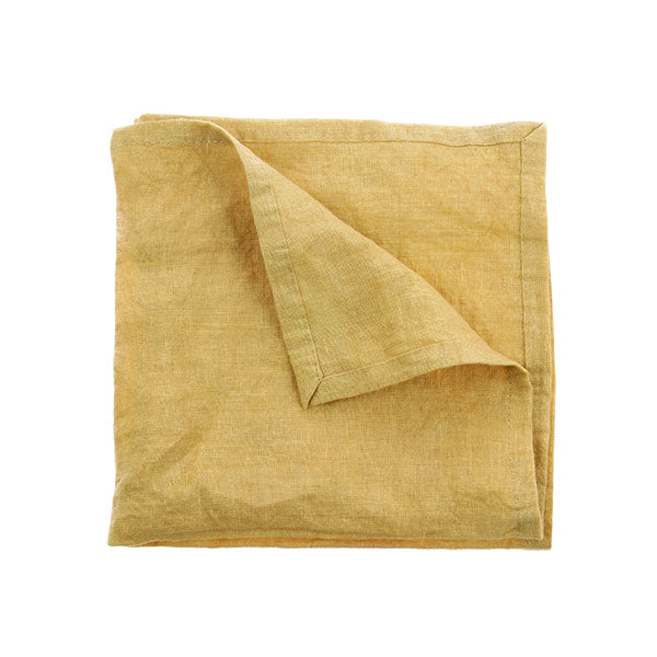 Linen Napkins Yellow- Pair