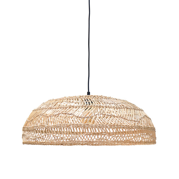 Wicker Hanging Lamp Flat Medium