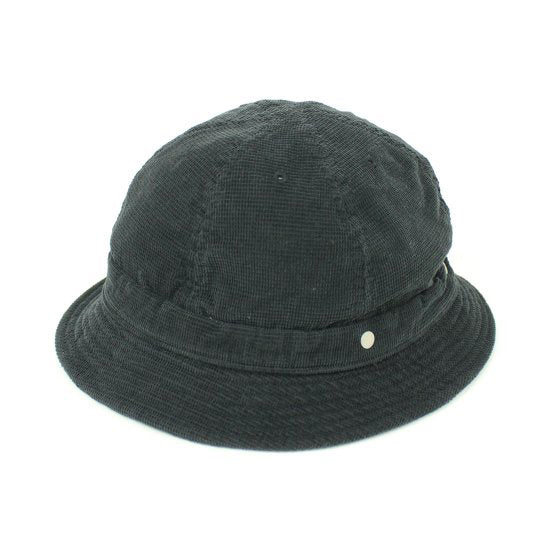 [DECHO] WEAVED SHALLOW KOME HAT_BLACK