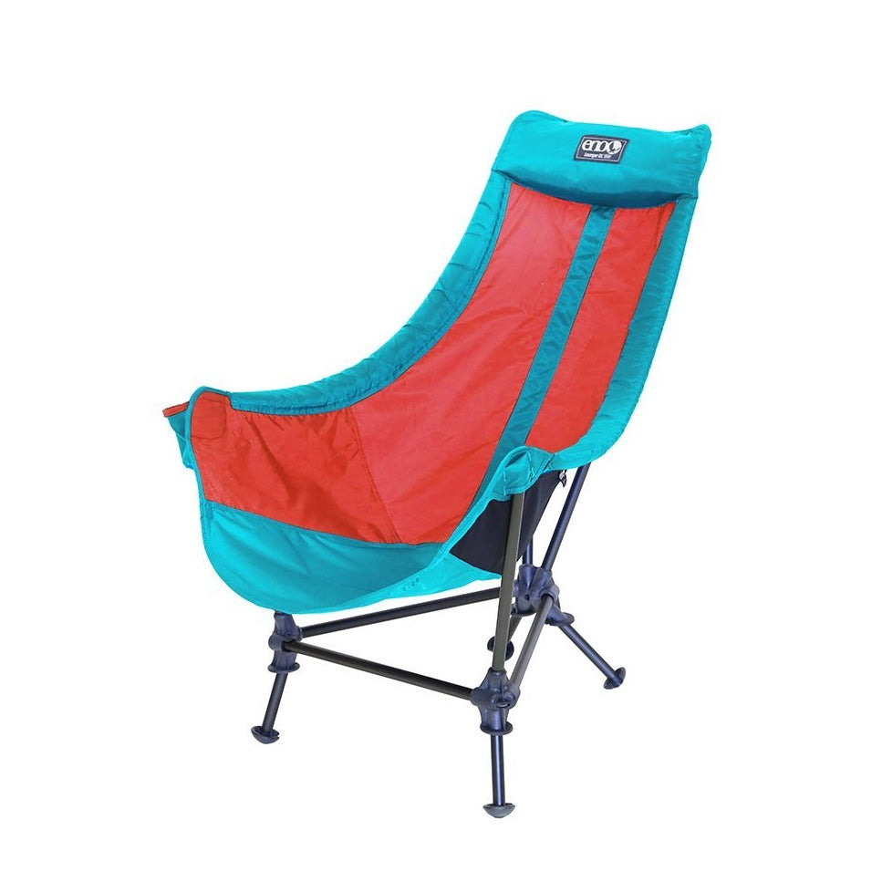 [KAVU] LOUNGER DL CAMP CHAIR_AQUA/RED