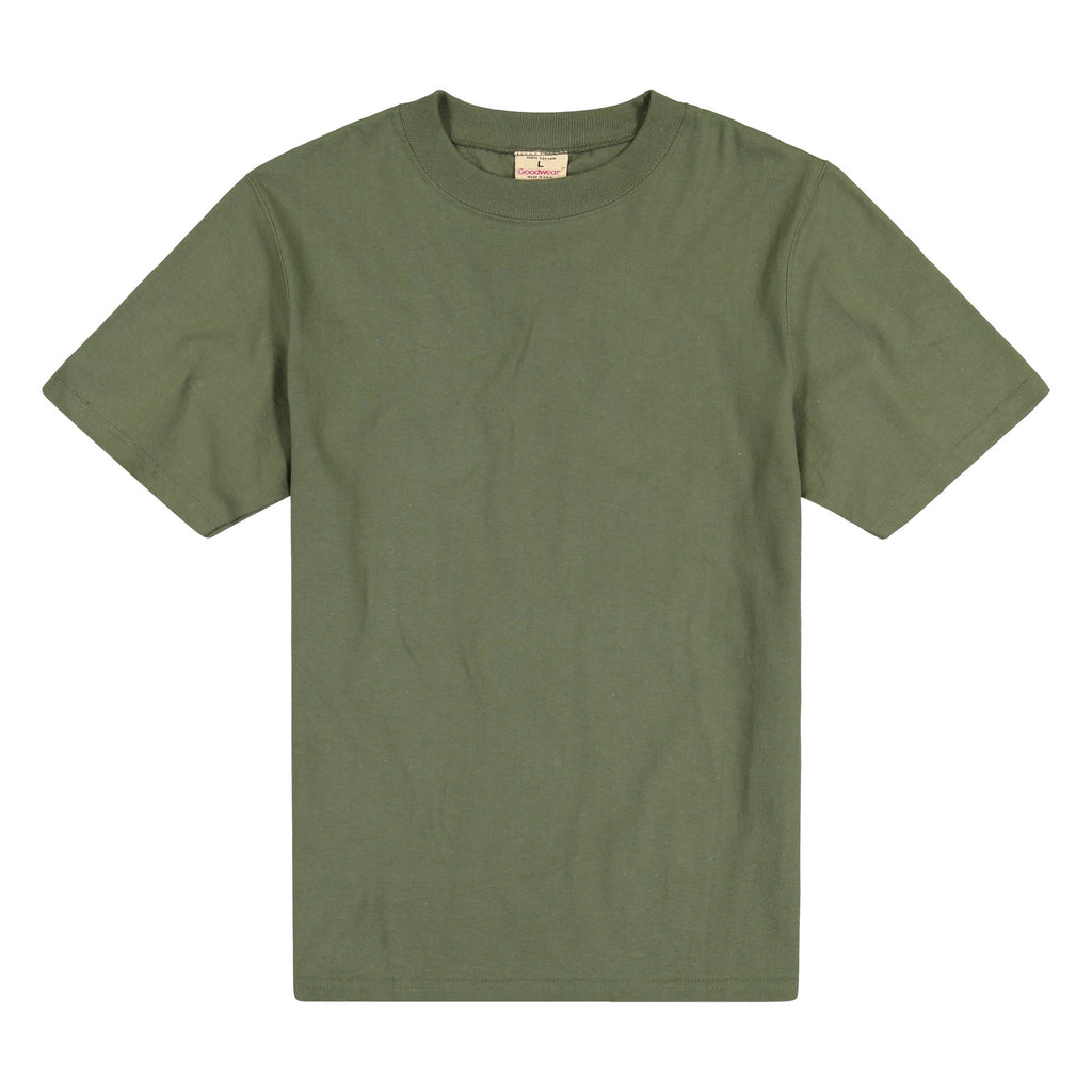 [GOODWEAR USA] SHORT SLEEVE CREW NECK CLASSIC FIT_DARK OLIVE