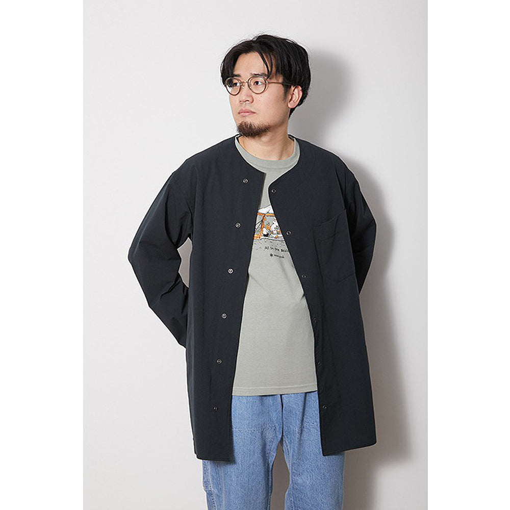 [SNOW PEAK] QUICK DRY SLEEPING SHIRT _ BLACK