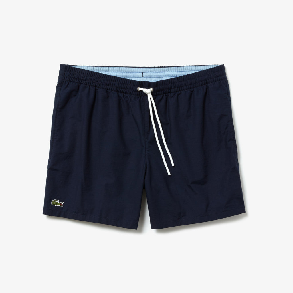 [LACOSTE] LIGHT QUICK-DRY SWIM SHORTS_NOIR/MARINE