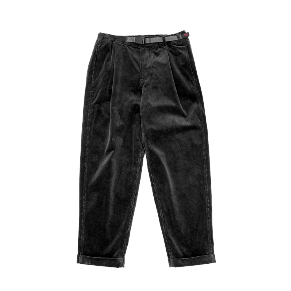 [GRAMICCI] CORDUROY TUCK TAPERED PANTS_BLACK
