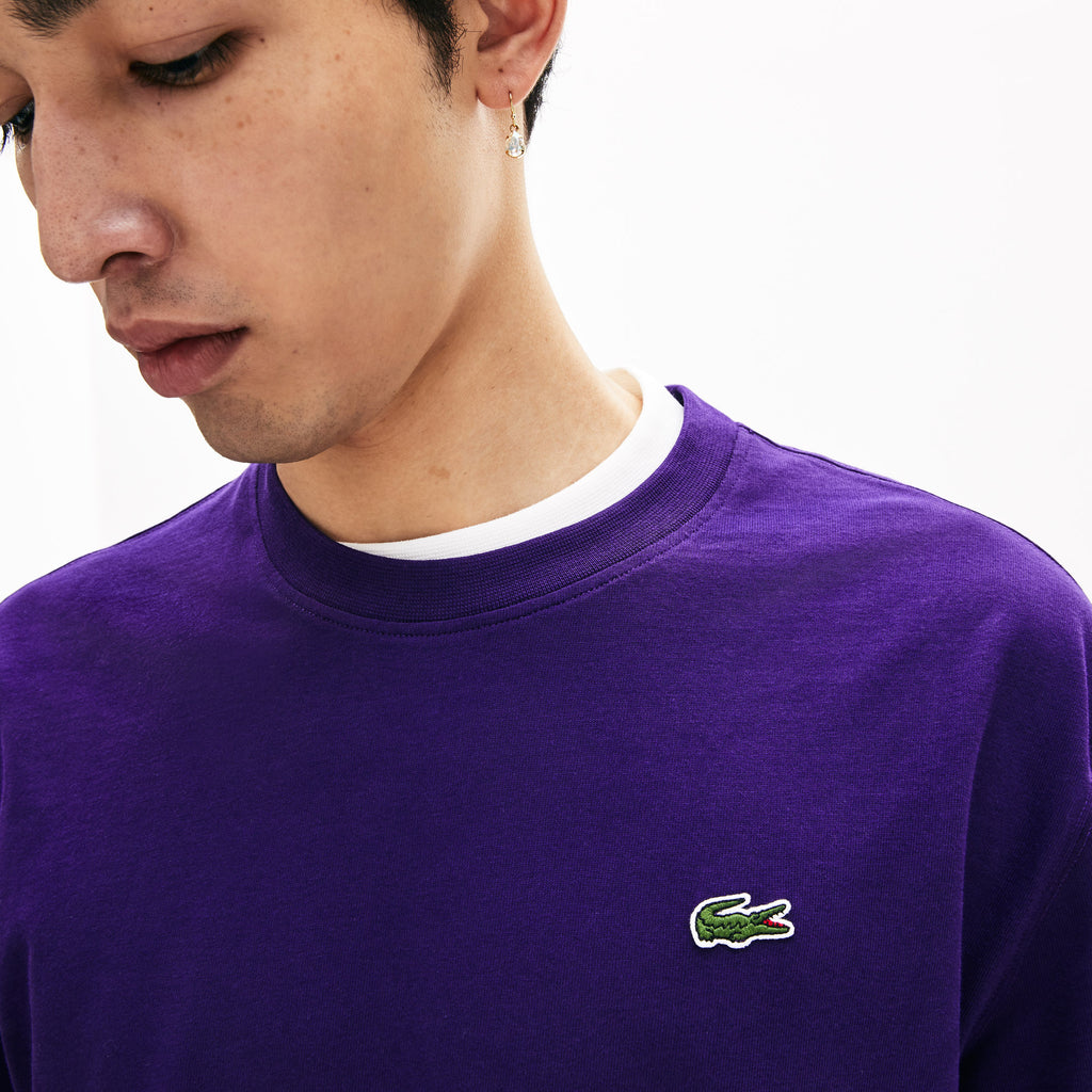 [LACOSTE] LACOSTE LIVE DOUBLE COLLAR COTTON T-SHIRT