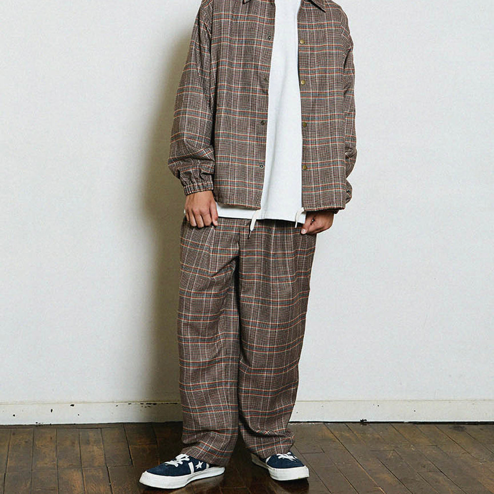 [CONICHIWA BONJOUR] FB WIDE SLACKS_BEIGE CHECK