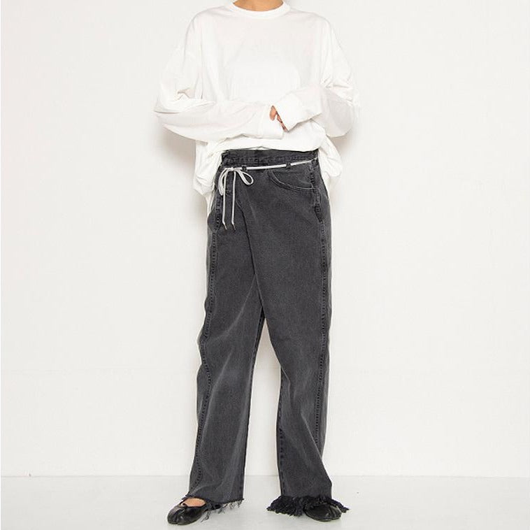 [MASION EUREKA] VINTAGE REWORK BIGGY PANTS_BLACK