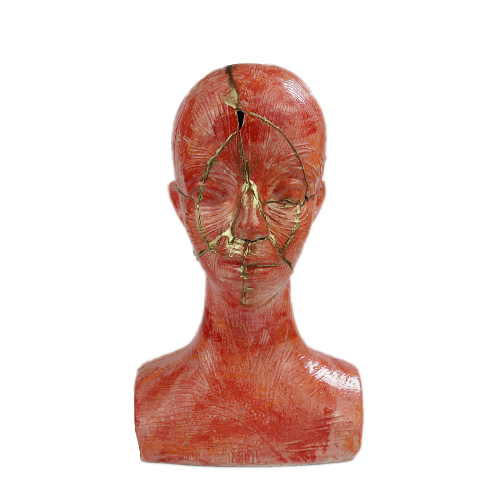 [FANNCERAMICS] RED MANNEQUIN HEAD