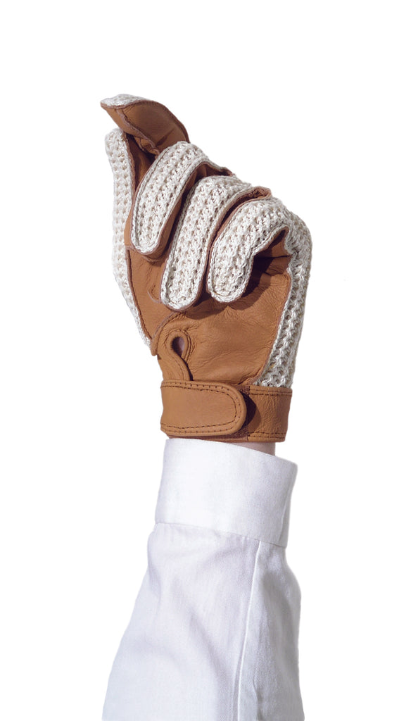 Ovation Crochet Back Gloves with hook & loop closure - Ladies
