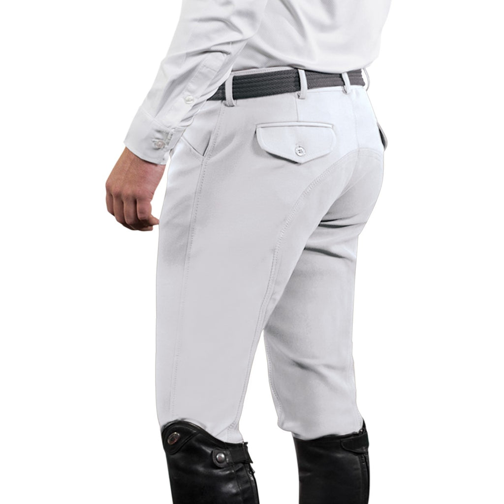 Ovation EuroWeave™ DX® 4-Pocket Front Zip Full Seat Breeches - Men's
