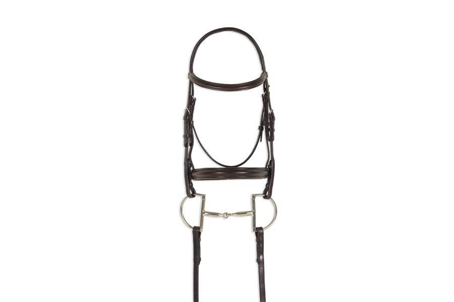 Ovation Breed Plain Raised Padded Bridle - Quarter Horse