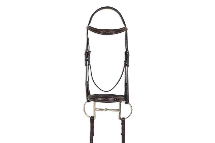 Ovation ATS Shaped Square Raised Tapered Fancy Stitched Bridle