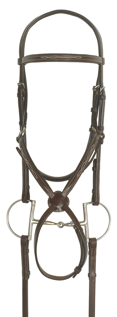 Ovation Elite Collection- Fancy Raised Figure-8 Comfort Crown Padded Bridle