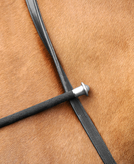 Passier Leather Reins with One Side Rubber with Hook Studs SALE
