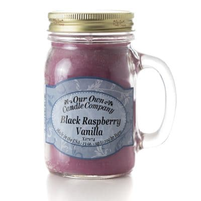 Triple E Mfg. Our Own Candle Company 13oz. Mason Jar Candle- Black Rasberry Vanilla