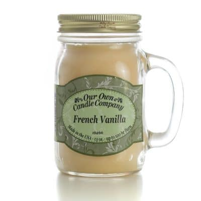 Triple E Mfg. Our Own Candle Company 13oz. Mason jar Candle- French Vanilla