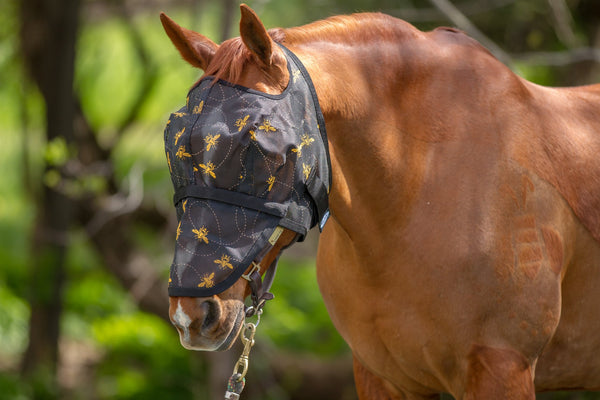 Mackey Bee Mine Fly Mask with Detachable Nose