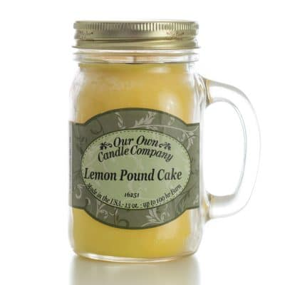 Triple E Mfg. Our Own Candle Company 13oz. Mason Jar Candle- Lemon Poundcake
