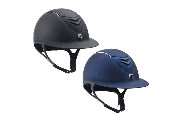 One K Avance Chrome Stripe Wide Brim Helmet