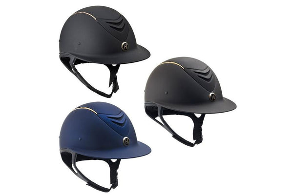 One K Avance Wide Brim Rose Gold Stripe Helmet SALE