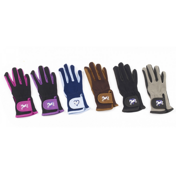 Ovation Hearts & Horses Gloves - Child's