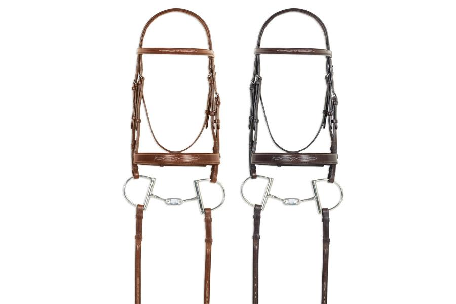 Pessoa Pro Fancy Stitched Wide Nose Bridle