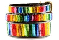 """Rainbow"" Beaded Dog Collar"