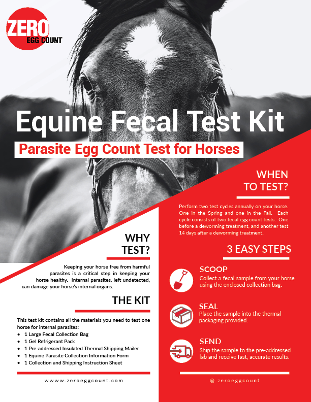Zero Egg Count Equine Fecal Test Kit