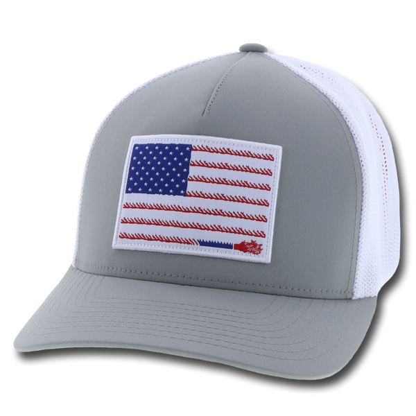 "Hooey Hat ""LIBERTY ROPER"" GREY/WHITE"