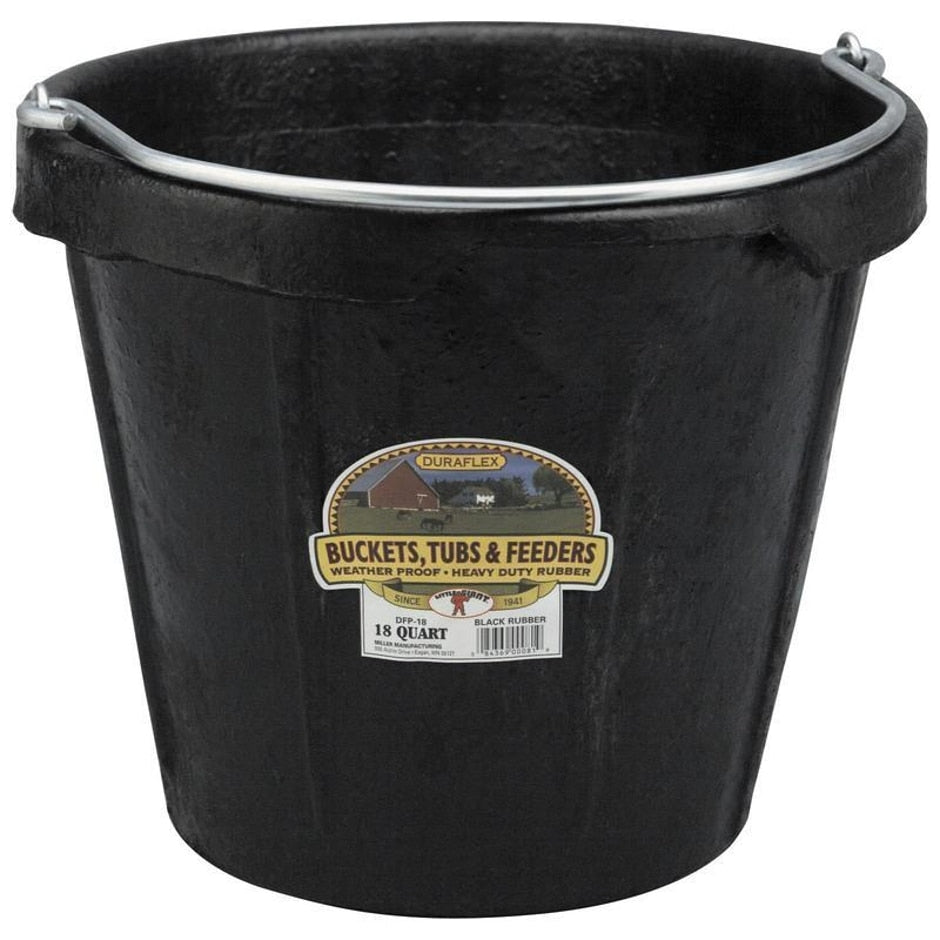 LITTLE GIANT RUBBER BUCKET WITH POURING LIP